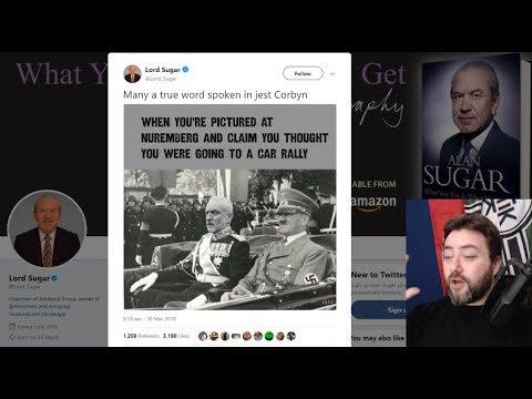 Lord Alan Sugar Memes Jeremy Corbyn, Socialists Furious