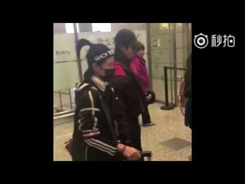 [Fancam] 20171123 Tang Yan departing Beijing for Shanghai Compilation 唐嫣北京飞上海饭拍合集