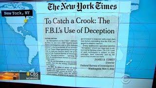 عناوين الصحف في 7:30: مكتب التحقيقات الفدرالي يدافع عن قرار إنشاء fake AP الخبر في اللدغة