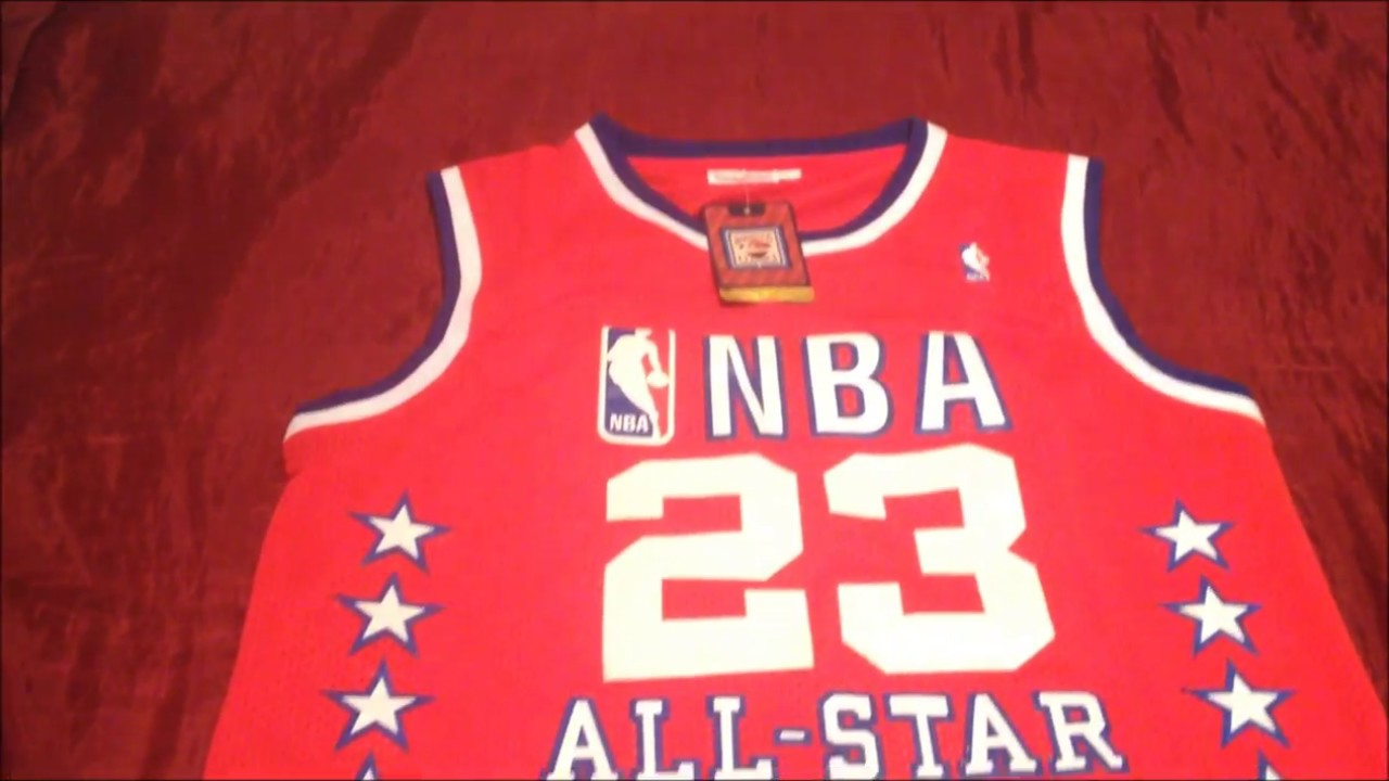 new product 202ae edcd1 Michael Jordan 1989 NBA All Star Throwback Jersey Mitchell And Ness