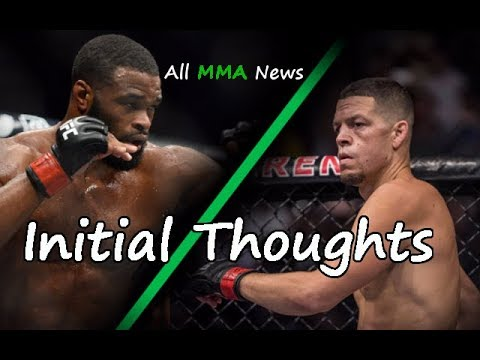 Initial Thoughts on the Tyron Woodley vs. Nate Diaz Potential Championship Fight at UFC 219