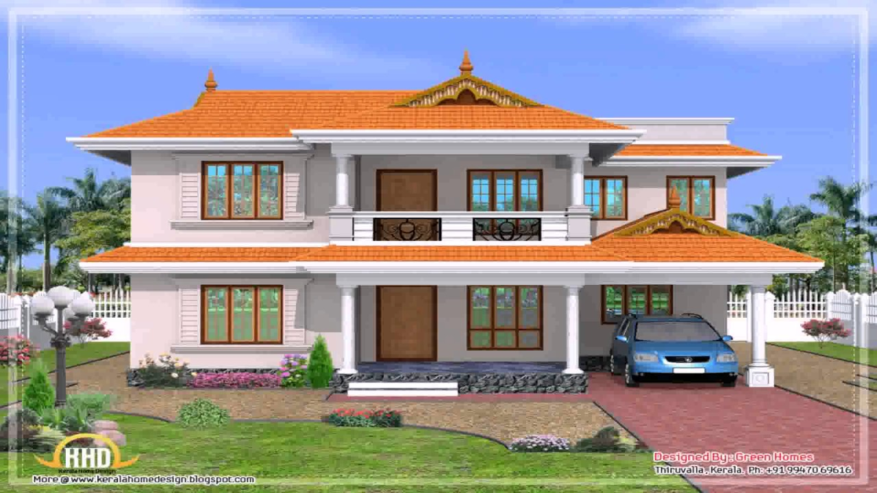 My dream house kerala style youtube for Home roof design india