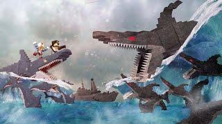 Jaws Movie 2 - Mega Robo Shark Army vs Jaws Shark Army! (Minecraft Roleplay) #11