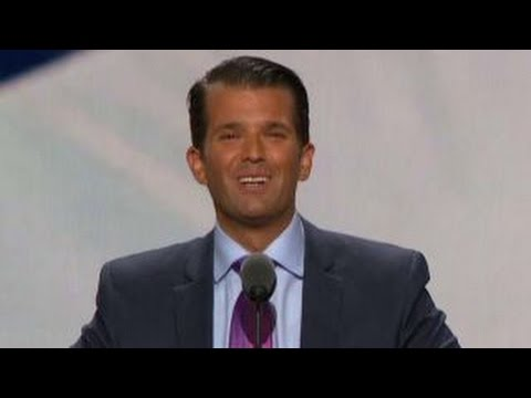 Donald Trump, Jr. addresses the GOP National Convention