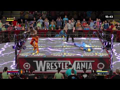 Wrestlemania 33 main event Andrew v Kreamz