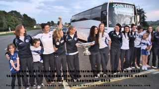 Cavan Ladies Gaelic Football All Ireland Intermediate Champions 2013 Crossing the Cavan Border