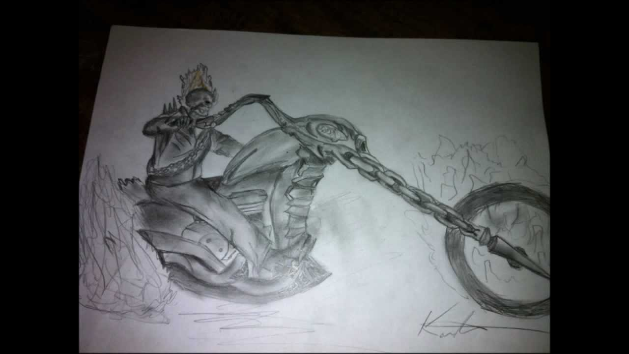 Ghost Rider Drawing Youtube