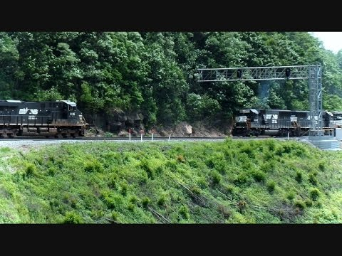Norfolk Southern Trains Meet Head To Head