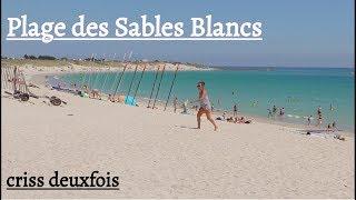 Plage des sables blancs ; Plobannalec-Lesconil ; Finistère ; France