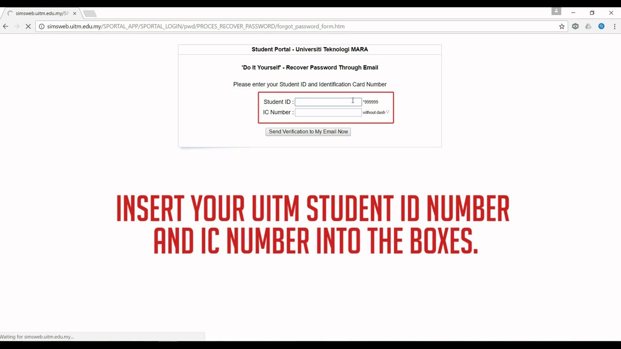 How To Login To I Learn Uitm Student Portal Uitm For The First Time Youtube