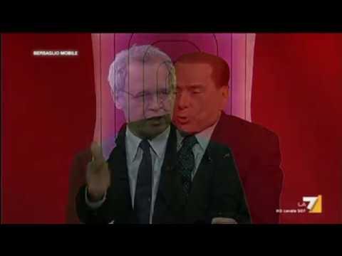 Di Battista e Travaglio: Berlusconi rincoglionito - La prova ieri a Bersaglio Mobile(Imperdibile)