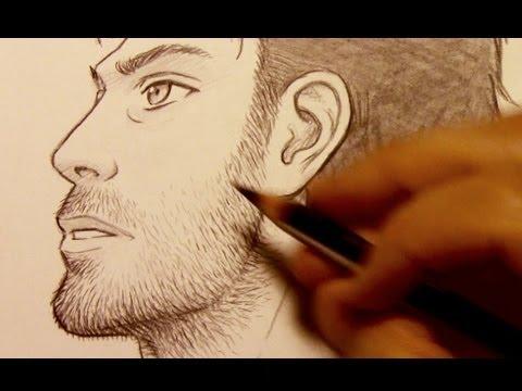 draw facial hair razor