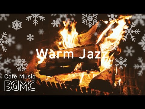 🎄⛄️ Christmas Songs Winter Slow Jazz - Relaxing Cafe Jazz Music with Fireplace