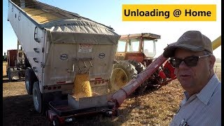 """It Eats the Grain"", Unloading 1000 Bushel of Corn into Grain Bin, 2017 Corn Harvest"