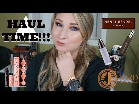 Fashion & Beauty Haul!! Jord Watches, Henri Bendel, Becca & More!