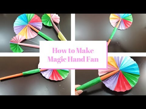 How to make Paper Magic Hand Fan - Art And Craft