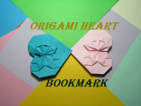 How to make origami heart with a flower bookmark easy youtube how to make origami heart with a flower bookmark easy mightylinksfo