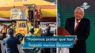 """El presidente López Obrador admitió que bajó el ritmo de llegada de vacunas contra Covid-19: """"Hay disponibilidad, pero también podemos probar que han llegado menos vacunas y ha bajado el número de vacunados"""""""