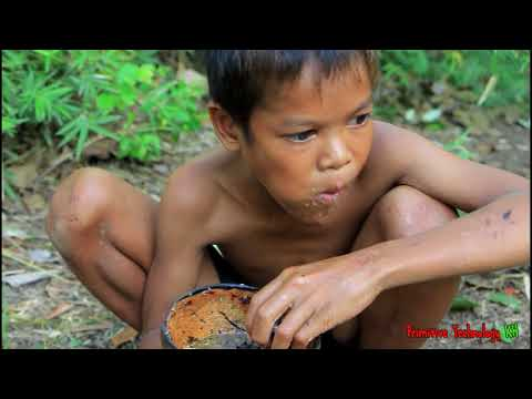 Primitive Technology - Eating delicious - Cooking baby egg ducks