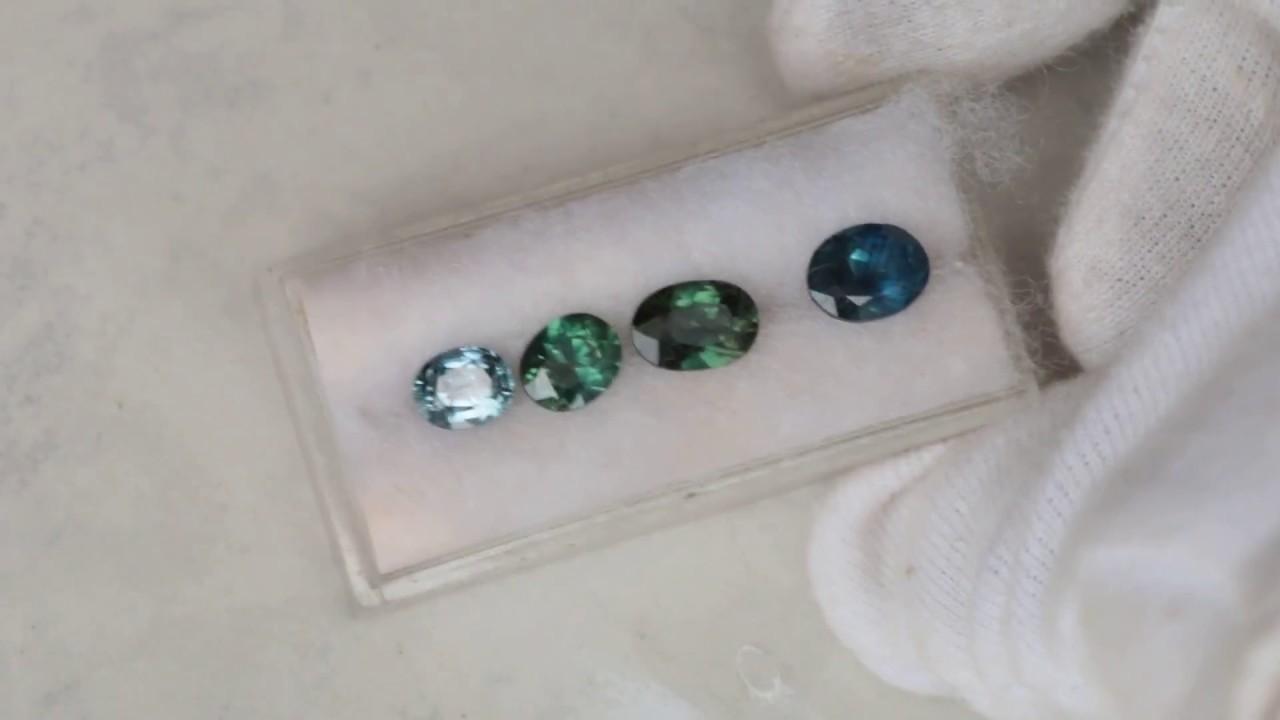 Ceylon Blue Green Sapphires September Birthstone