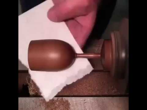 Making A Wooden Wine Glass Youtube