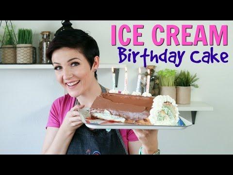 How to make Ice Cream Roll Cake | BIRTHDAY