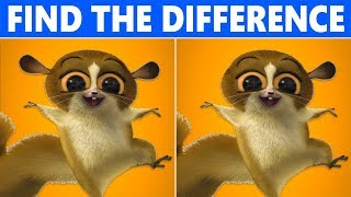 Find The Difference : Madagascar 3 | Genius Edition!