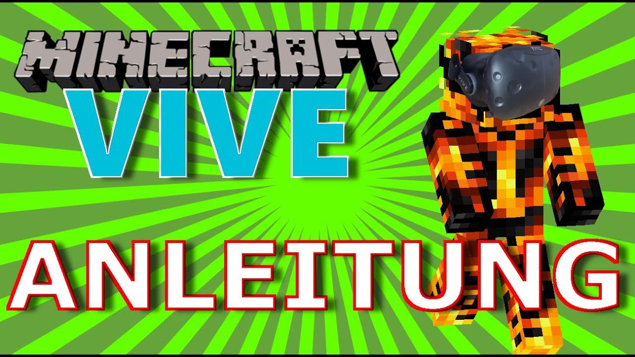 Minecraft VR Install Anleitung Mit Vivecraft HTC VIVE - Minecraft vr spielen