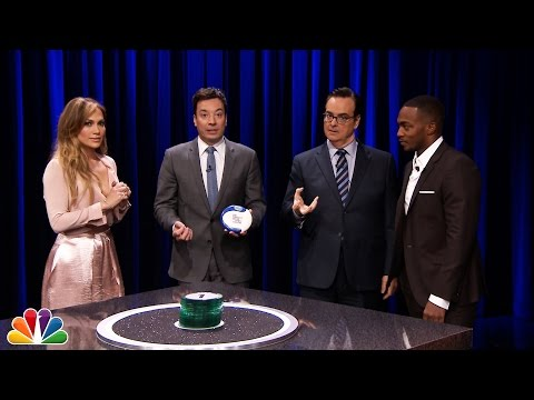 Catchphrase with Jennifer Lopez and Anthony Mackie