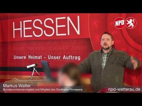 Markus Walter auf dem Neujahrsempfang der NPD-Fraktionen Büdingen und Altenstadt