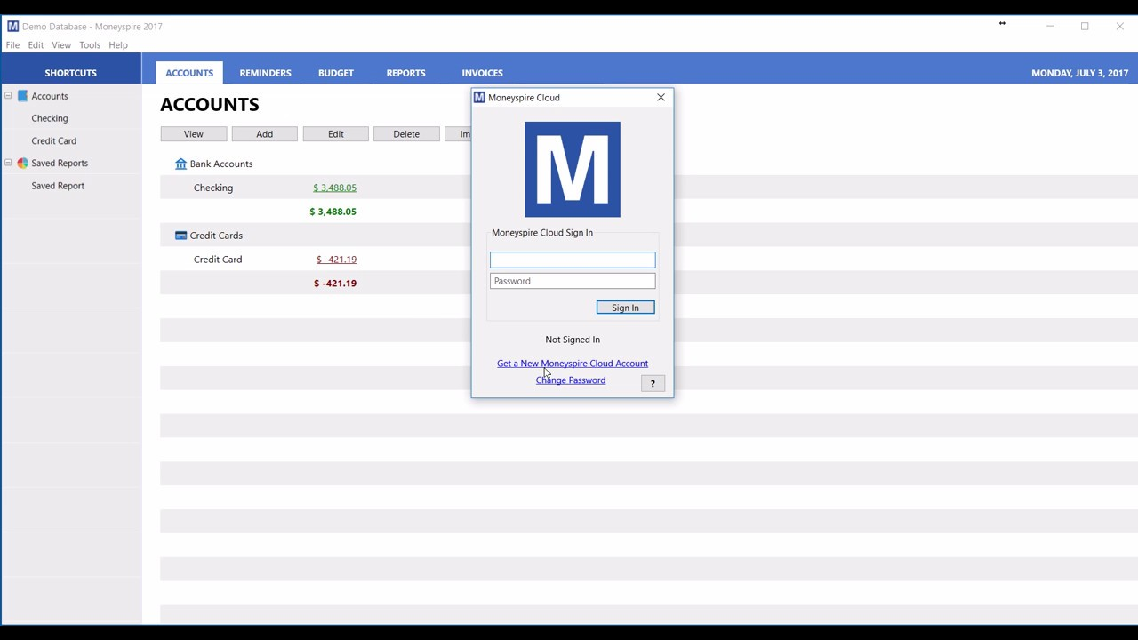 How to Use Moneyspire Cloud in Moneyspire Personal Finance