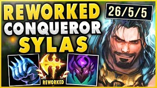 CONQUEROR REWORK SYLAS IS 100% BEYOND BROKEN! INSANE 4V5 HARD CARRY! - League of Legends