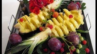 Ананас Правильная нарезка и красивая подача.(На самом деле нарезать ананас очень просто, а подать красиво для гостей ещё проще. Как? Смотрите в видео уроке., 2012-09-17T20:17:16.000Z)