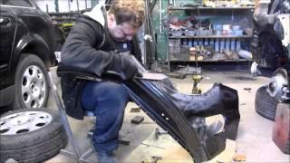 BMW 3. Body repair. Ремонт кузова.(The side repair, a fender replacement. Ремонт бока, замена крыла., 2015-11-15T18:12:07.000Z)