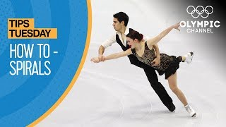 How To Perform a Figure Skating Spiral ft. Anna Cappellini | Olympians