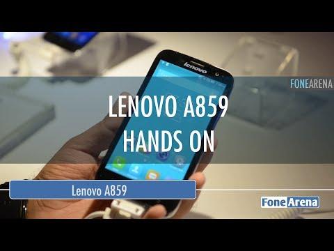 Lenovo A859 Hands On