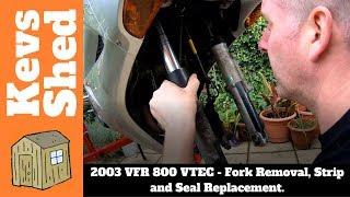 2003 Honda VFR800 VTEC Front Fork Seal Replacement and Rebuild