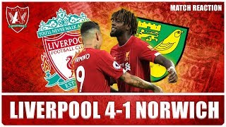 TOP OF THE LEAGUE (WHERE WE SHALL STAY) | Liverpool 4-1 Norwich City Match Reaction