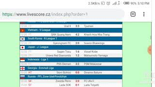 Livescores Results Today
