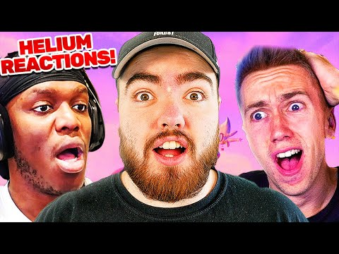 Reacting To THE HELIUM SONG Reactions With Miniminter! (KSI, Crypt & More!)