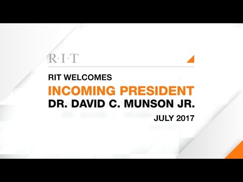 Introducing RIT's 10th President: David C. Munson Jr.