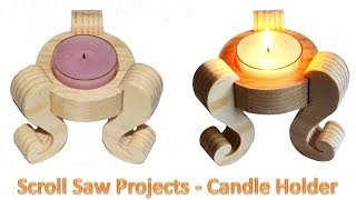 Scroll Saw Projects - Tea Light Candle Holder For Pattern - www.planetbmp.com - Download - Tea Light Candle Holder.
