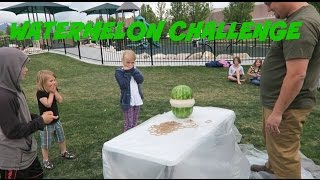 FAMILY FUN: EXPLODING WATERMELON CHALLENGE!!