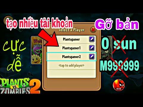 tai plants vs zombies 2 hack cho android - Plants gamer l Cách tạo nhiều tài khoản pvz2 l cách gỡ bản hack pvz 2 cực dễ #Plantsgamer#pvz2
