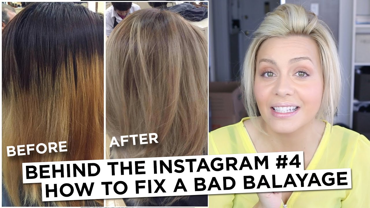Behind The Instagram 4 How To Fix A Bad Balayage Youtube