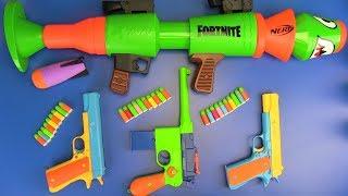 Colors toys gun for Kids ! NERF FORTNITE Toys for Kids - Video for Kids