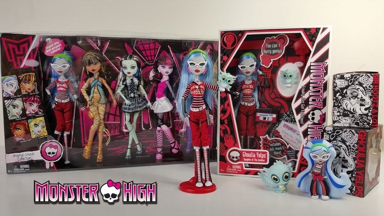 ghoulia yelps wave 1 unboxing review monster high youtube