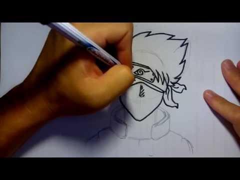 วาดการ์ตูน กันเถอะ สอนวาดรูป คาคาชิ จาก การ์ตูน นารุโตะ