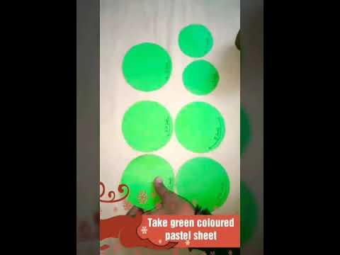 Creative Christmas tree🌲 using pastel sheet, crepe paper and clay DIY Part-1