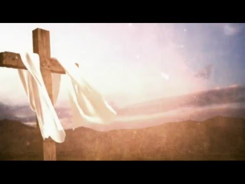 Cross with Fabric and Bright Sky Background Motion Video Loops HD